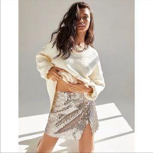 New Free People Seashell Sequin Mini Skirt